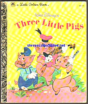 Disney Three Little Pigs Little Golden Book