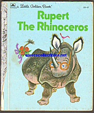 Rupert The Rhinoceros Little Golden Book