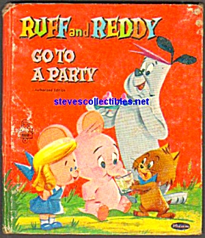 Ruff And Reddy To Party - Tell A Tale Book - 1958