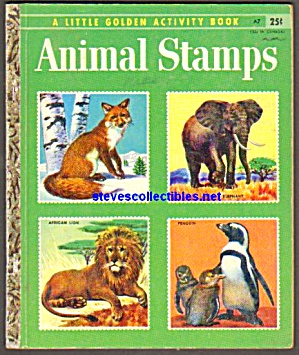ANIMAL STAMPS -  Little Golden Book - 1955 (Image1)