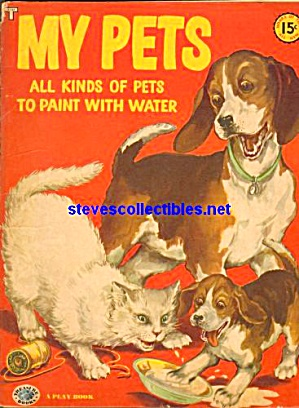 My Pets Paint With Water Coloring Book Treasure Books