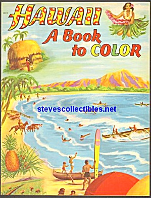 Hawaii Coloring Book Saalfield 1950s