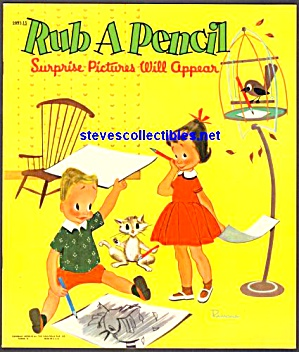 Rub A Pencil Surprise Pictures Will Appear Coloring Book - Saalfield
