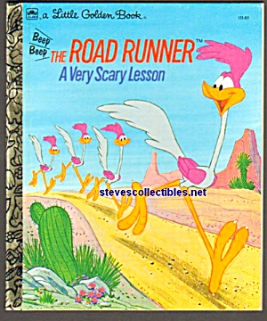 The Road Runner A Very Scary Lesson- Little Golden Book