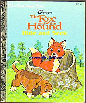 Disney FOX AND HOUND HIDE AND SEEK- Little Golden Book (Image1)