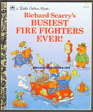 Busiest Fire Fighters Ever-little Golden Book - Scarry