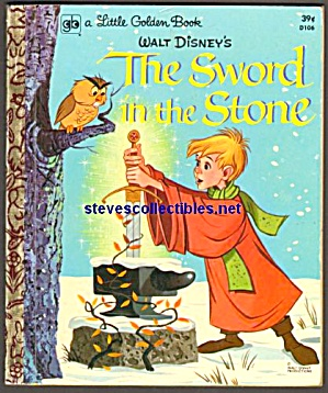 Disney THE SWORD IN THE STONE Little Golden Book (Image1)