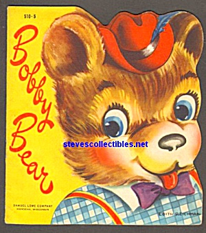 BOBBY BEAR Cute and Cuddly Diecut Shape BOOK 1950 (Image1)