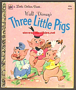 DISNEY THREE LITTLE PIGS Little Golden Book (Image1)