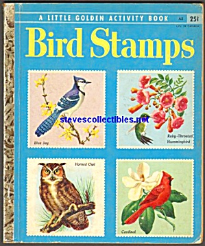 BIRD STAMPS -  Little Golden Book - 1955 (Image1)