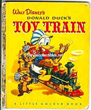 DONALD DUCKS Toy Train Little Golden Book (Image1)