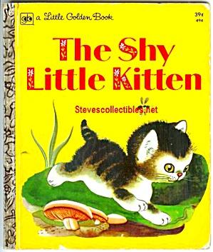 THE SHY LITTLE KITTEN - Little Golden Book - (Image1)