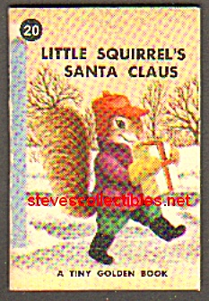 LITTLE SQUIRREL'S SANTA CLAUS Tiny Golden Book - 1949 (Image1)