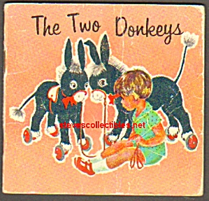 The Two Donkeys 1963 Miniature Book - Golden Press
