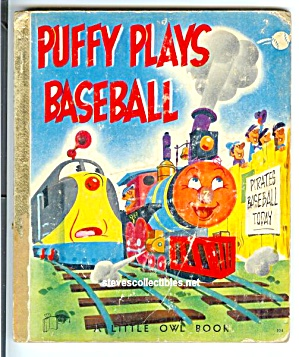 PUFFY PLAYS BASEBALL Little Owl Book - 1954 (Image1)
