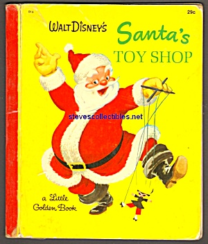 Disney SANTA'S TOY SHOP Little Golden Book (Image1)