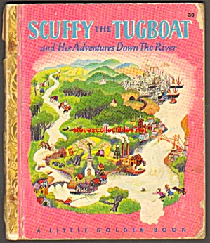 Scuffy The Tugboat 1946 Little Golden Book
