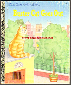 Buster Cat Goes Out - Little Golden Book