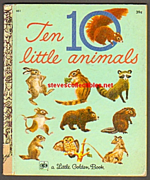 TEN 10 LITTLE ANIMALS Little Golden Book (Image1)