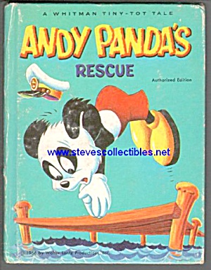 Andy Panda's Rescue Whitmantiny Tot Tale Book - 1949