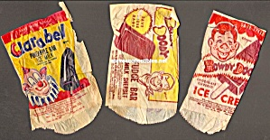 Lot Of 3-1950s Howdy Doody Ice Cream Premium Bags