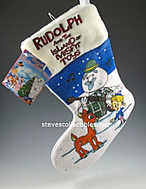 Plush Rudolph And Misfit Toys Christmas Stocking