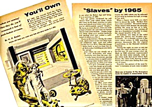 1957 ROBOTS MECHANICAL MEN Mag. Article (Image1)