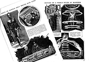 1927 Movie: Metropolis Robot Woman Mag. Article