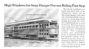 1946  ALL-ELECTRIC STREET CAR - TROLLEY Mag. Article (Image1)
