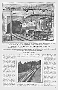1923 Alpine ST. GOTHARD RAILWAY Mag Article (Image1)