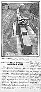 1927 TRAIN CLEANING TUNNEL Mag. Article (Image1)