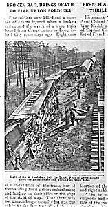 1918 Soldier Trainwreck Camp Upton Article