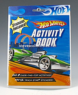 Hot Wheels Diecast Activity Book Toy Mint