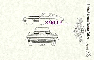 Toy+patent Art: 1963 Split Window Chevy Corvette 2