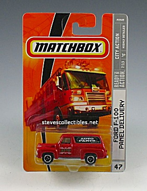 1955 FORD F-100 PANEL DELIVERY TRUCK Matchbox Toy  MOC (Image1)