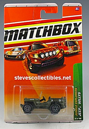 JEEP WILLYS Military Matchbox Diecast Toy (Image1)