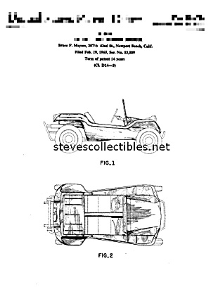 Toy + Patent Art: 1964 MEYERS MANX DUNE BUGGY (Image1)