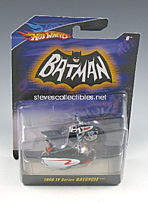 1966 BATMAN BATCYCLE Diecast Hot Wheels Toy (Image1)