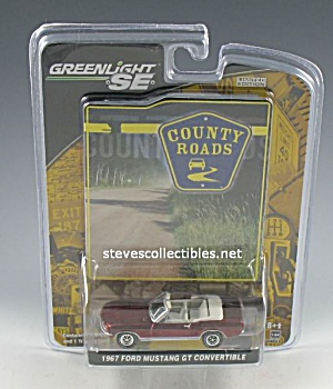 1967 Ford Mustang Convertible Diecast Toy - Greenlight