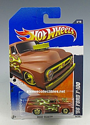 1956 FORD F-100 Panel Van Truck Hot Wheels Toy  MOC (Image1)