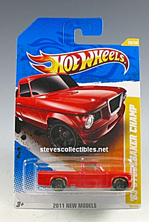 1963 Studebaker Champ Pickup Truck Hot Wheels Toy Moc