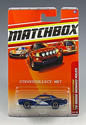 1978 DODGE MONOCO POLICE CAR Matchbox Toy  MOC (Image1)