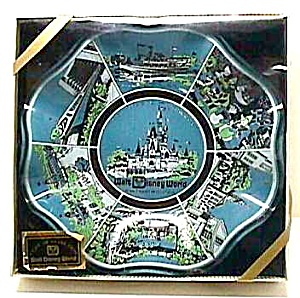 Vint. WALT DISNEY WORLD Glass Nut Dish in Box (Image1)