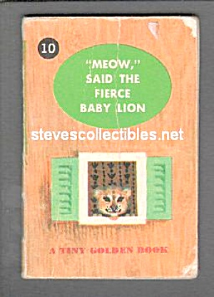MEOW, SAID THE FIERCE BABY LION Tiny Golden Book (Image1)