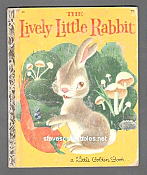 LIVELY LITTLE RABBIT - Little Golden Book (Image1)