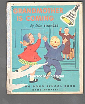 GRANDMOTHER IS COMING Ding Dong Book 1954 (Image1)