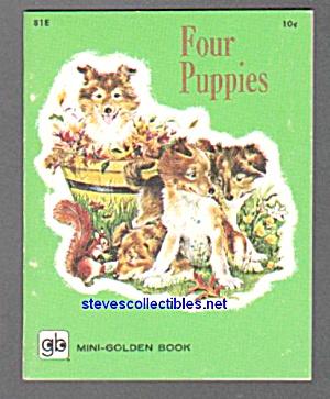 FOUR PUPPIES Mini-Golden Book - 1960 (Image1)