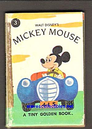 Disney MICKEY'S NEW CAR - Tiny Golden Book (Image1)