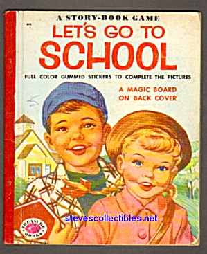 Let's Go To School Wonder Game Book 1954