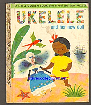Ukelele And Her New Doll - Little Golden Book - Rare